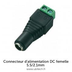 Connecteur d'alimentation DC Femelle avec bornier à vis 5.5mm / 2.1mm