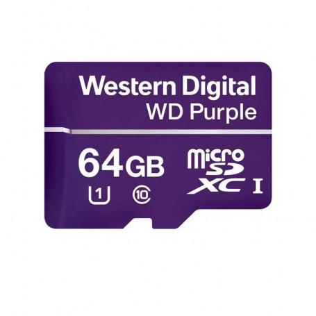 Carte MicroSD Western Digita Purple 64Go spéciale vidéosurveillance