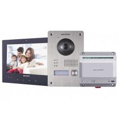 Kit interphone vidéo couleur 2 fils Hikvision DS-KIS701 - Noir