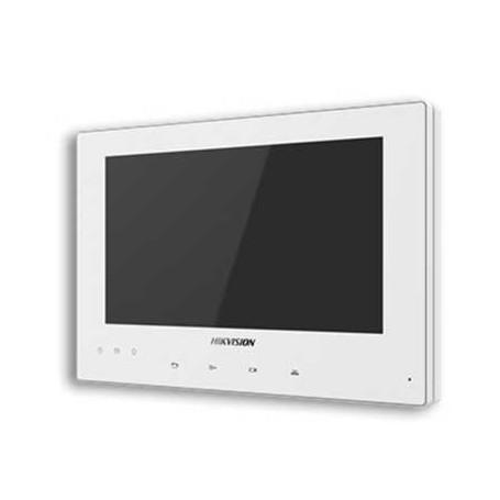 Ecran de contrôle tactile blanc DS-KH8340-TCE2 pour interphone vidéo Hikvision DS-KIS701