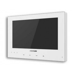 Écran de contrôle tactile blanc DS-KH8340-TCE2 pour interphone vidéo Hikvision DS-KIS701