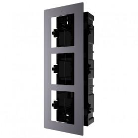 Boîtier de montage encastré 3 emplacements Hikvision DS-KD-ACF2 pour interphone vidéo