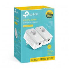 TP-Link TL-PA4015PKIT Kit 2 boîtiers CPL AV 600 Mbps avec prise électrique femelle intégrée